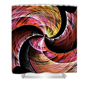 Color In Motion Shower Curtain
