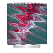 Color In Waves Shower Curtain