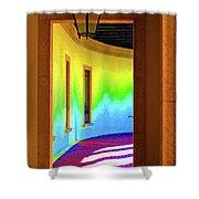 Color Light Shower Curtain