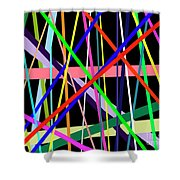 Color Lines Variety Background Shower Curtain