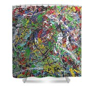 Color Map From The Sky And Ice Figure  Shower Curtain