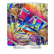 Color Me Abstract Shower Curtain