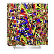 Color Mix Fun Abstract Shower Curtain
