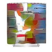 Color Model One Shower Curtain
