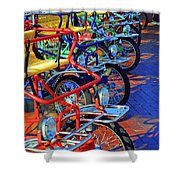 Color Of Bikes Shower Curtain