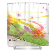 Color Of Dance Japan Shower Curtain