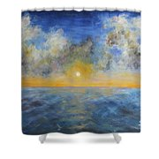 Color Of Ocean Shower Curtain