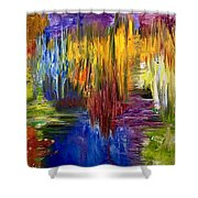 Color Of Sound Shower Curtain