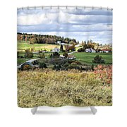 Color On The Hills Shower Curtain