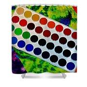 Color Palette Shower Curtain