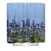 Color Pano Los Angeles California  Shower Curtain