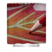 Color Pencil Drawing Shower Curtain
