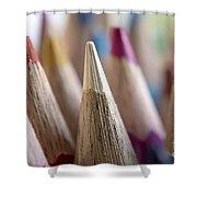 Color Pencils Close-up Shower Curtain