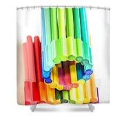 Color Pens 10 Shower Curtain