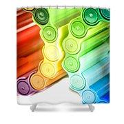 Color Pens 3 Shower Curtain
