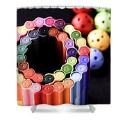 Color Pens2 Shower Curtain