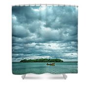 Color Play Before Storm Shower Curtain