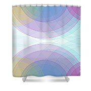 Color Semi Circle Background Horizontal Shower Curtain