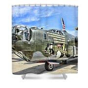 Color Side Wwii B-24j Shower Curtain