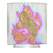 Color Sketch Koi Fish Shower Curtain