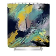 Color Space Shower Curtain