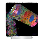 Color Spill Shower Curtain