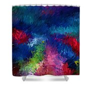 Color Splash Abstract 080210 Shower Curtain