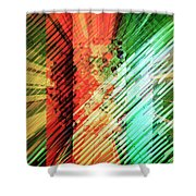 Color Stripes Shower Curtain