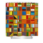 Color Study Collage 66 Shower Curtain by Michelle Calkins