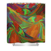 Color Swells Shower Curtain