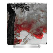 Color The Clouds Shower Curtain