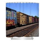 Color Train Shower Curtain