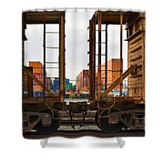 Color Transport  Shower Curtain