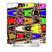 Color Wave Abstract Shower Curtain