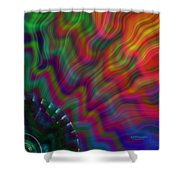 Color Waves Shower Curtain