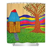 Colorful Fantasy Land Shower Curtain