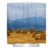 Colorado Agriculture Farming Panorama View Pt 2 Shower Curtain