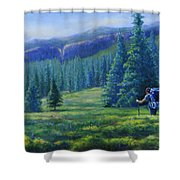 Colorado Backpacker Shower Curtain
