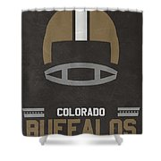 Colorado Buffalos Vintage Football Art Shower Curtain