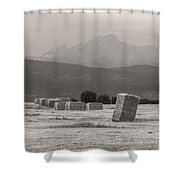 Colorado Farming Panorama View In Black And White Pt 1 Shower Curtain