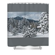 Colorado Foothills Winter Panorama Shower Curtain