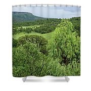 Colorado Green Shower Curtain