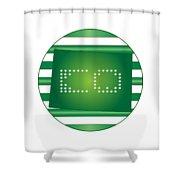 Colorado Green Shower Curtain