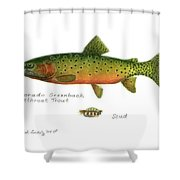 Colorado Greenback Cutthroat Trout Shower Curtain