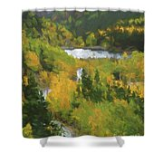 Colorado Lake And Colors Shower Curtain