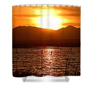 Colorado Marsh At Sunset Shower Curtain