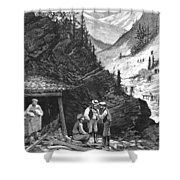 Colorado: Mining, 1874 Shower Curtain by Granger