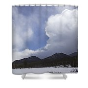 Colorado Mountain Clouds Shower Curtain