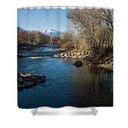 Colorado Mountain Stream Shower Curtain