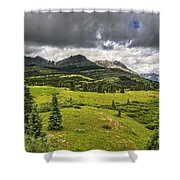 Colorado Mountains After Summer Rain Shower Curtain